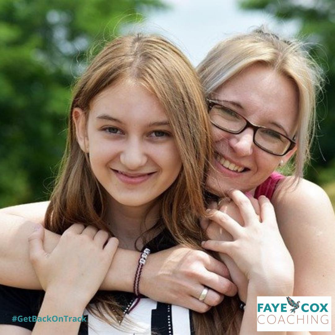 mum and teenage daughter